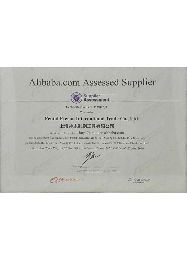 Alibaba.com Assessed Supplier 2016
