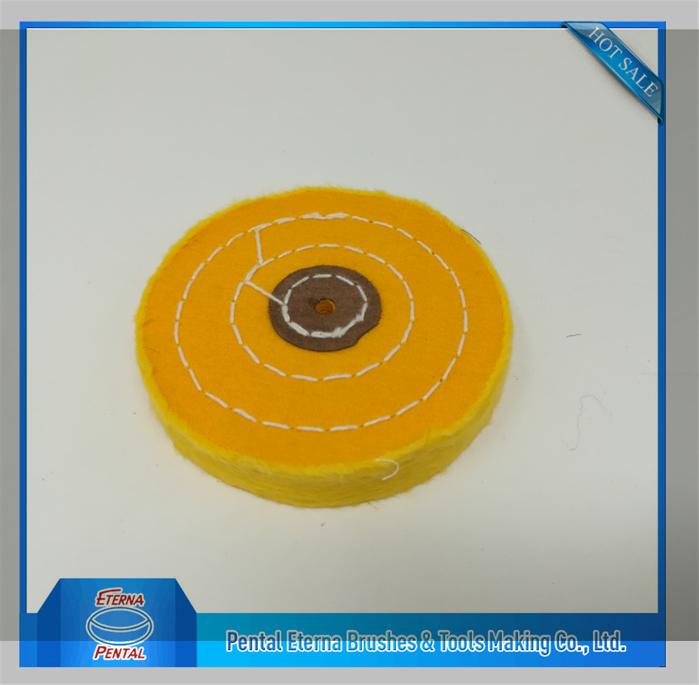 yellow Cotton buffing wheel