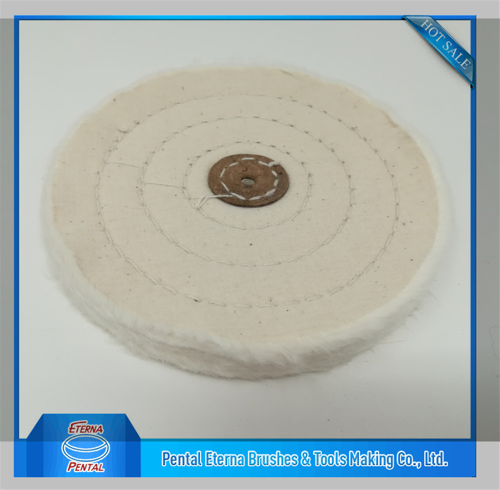 white Cotton buffing wheel