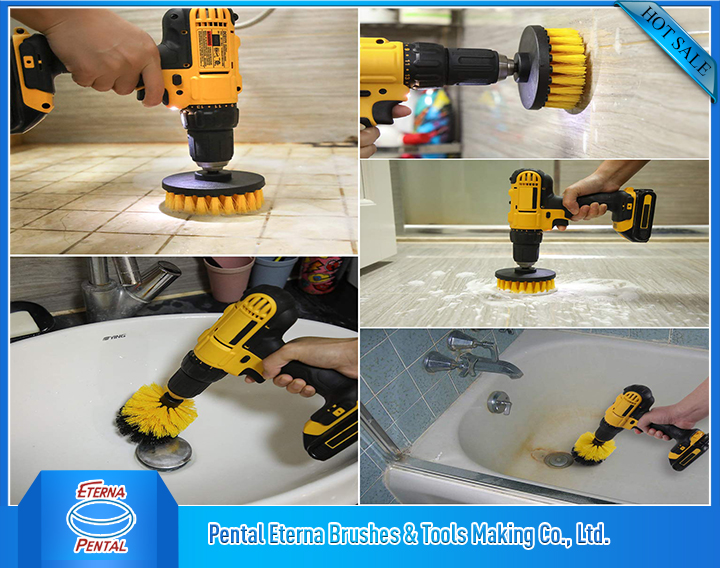 Electric drill brush
